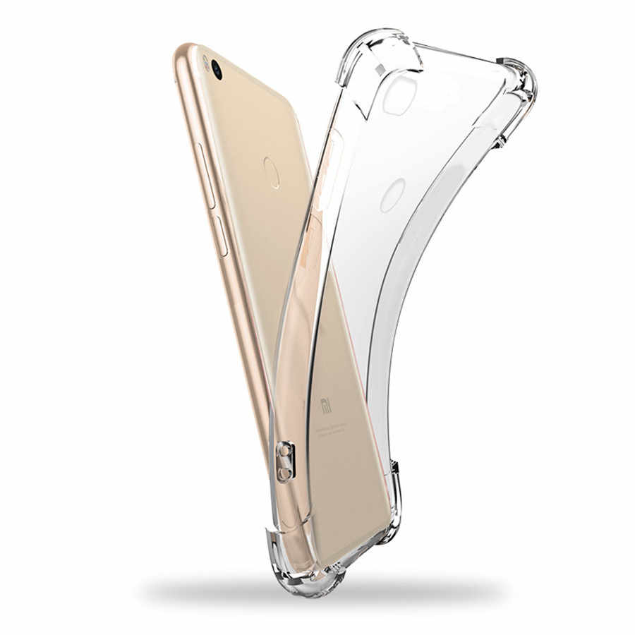 Chống-gõ TPU Trường Hợp đối với Huawei Mate 20 Pro P20 P10 P9 P8 Lite 2017 Nova 3E 3 3i 2 Honor 10 9 8 7X 8X 6A 5C Đầy Đủ Nắp Bảo Vệ