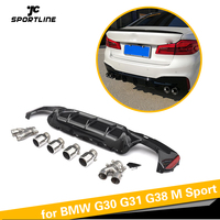 For BMW G30 G31 G38 M Sport 540i Sedan 4-Door 2018 2019 PP Rear Bumper Lip Diffuser Diffuser Spoiler