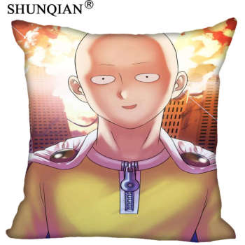 One Punch Man Custom Gift Pillow Cover Decorative Square Zippered Two Side Pillowcase 35x35cm,40x40cm,45x45cm,60x60cm  More Size