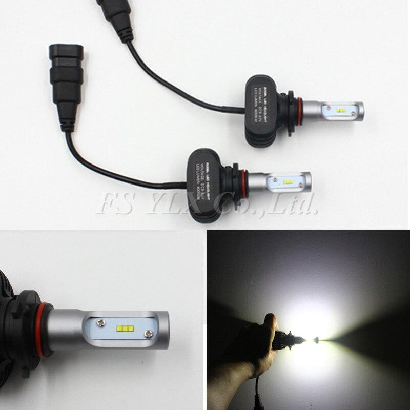 50W 8000LM Auto Car LED Headlight 9005/HB3/H10 6000K High Power Conversion 360 Degree Leds Headlamp Light Bulbs Kit 1 set 80w 8000lm car led headlight h1 h3 h7 h11 880 9005 9006 6000k conversion 360 degree cob leds headlamp light bulbs kit