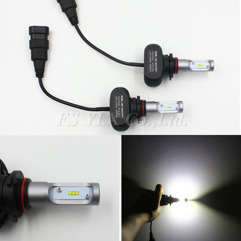 FSYLX 1SET Car LED Headlight 9005/HB3/H10 6000K Led fog Headlamp Light Bulb Conversion Kit 360 Degree 50W 8000LM plug & play