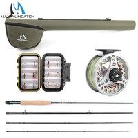 Maximumcatch 5WT Fly Fishing Combo 9FT Medium Fast Fly Rod Aluminum Reel Line Cordura Triangle Tube