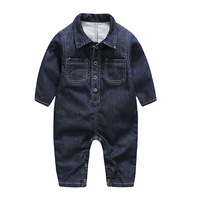 2018 Spring New Soft Denim Baby Romper Infant Clothes Newborn Jumpsuit Babies Boy Girls Costume Cowboy