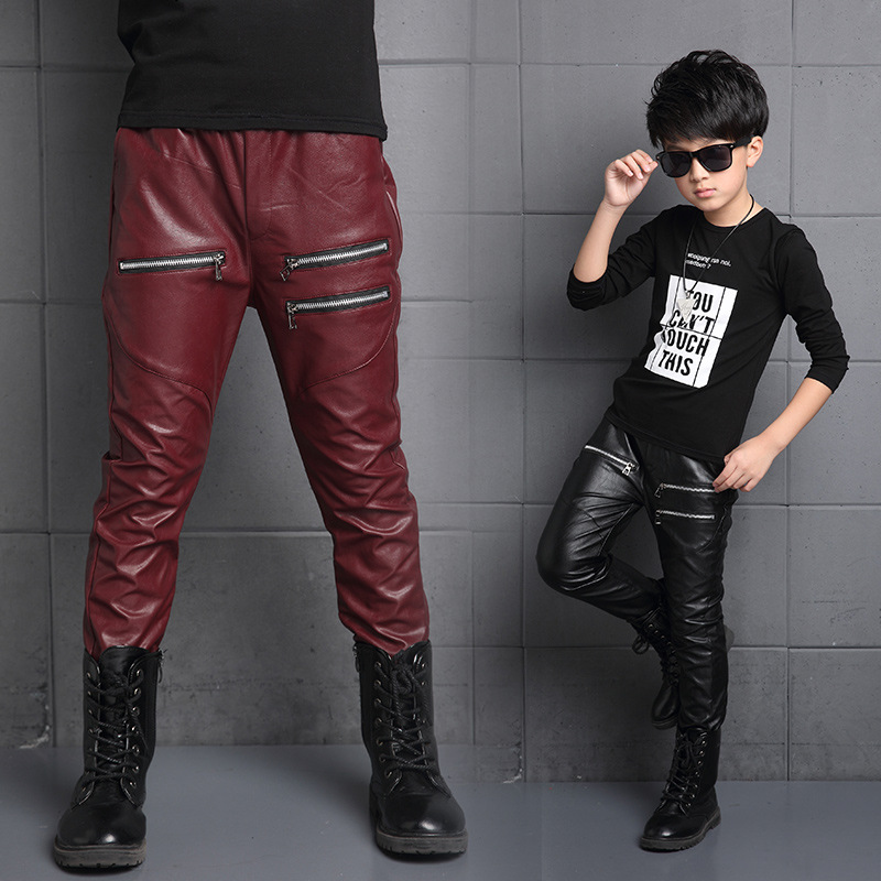Mens New Tide Fashion Black Long PU Leather Pants Boys Street Joggers Trousers 2. $ Buy It Now. 6+ watching | 2+ sold; Hope you can understand! Material: faux leather. Color Category: black,red. Size Chart any issues you may have in a cordial and friendly .