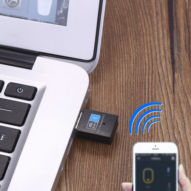 150Mbps Mini USB Wireless N WiFi Bluetooth 4.0 WLAN Network Adapter IEEE 802.11n/g/b for Windows 7/8/8.1/10/Linux/Mac 2016 New
