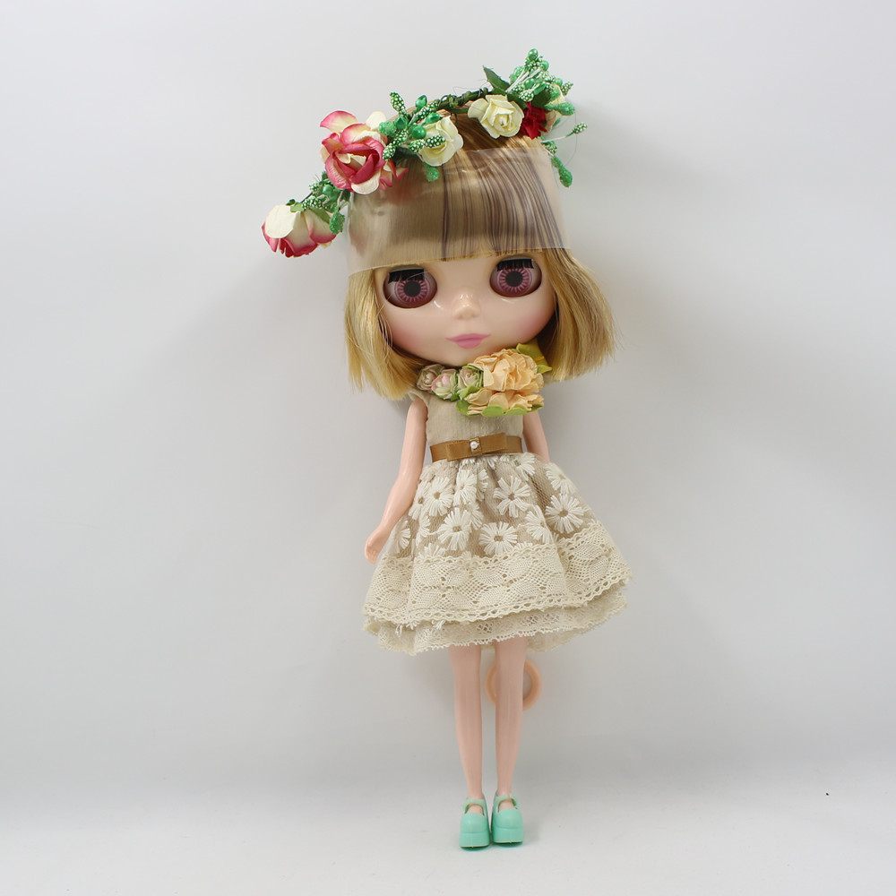 Neo Blyth Nude Doll For Series bangs Golden mix Brown short hair Suitable For DIY Change Toy For Girls 0736/9158 цены онлайн