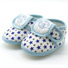 Fashion Newborn Infant Baby Shoes Star Printed Girls Boys Soft Sole Prewalker Anti-slip Casual Flats Shoes Bebe Drop Shipping#NL(China)