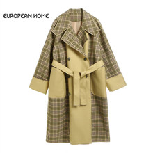 2019 New Arrival Spring Trench Coat For Women Fashion Classi