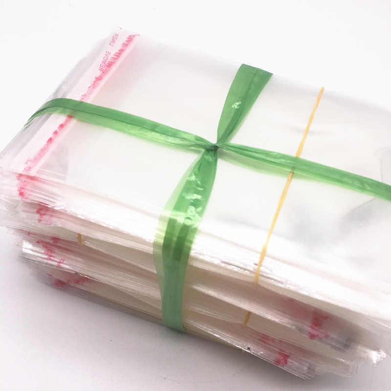 100 個 5 × 7,6 × 9,7 × 11,8 × 13,9 × 16,10 × 18 センチメートル再封可能なポリ袋透明 opp ビニール袋自己粘着シールジュエリー作るバッグ
