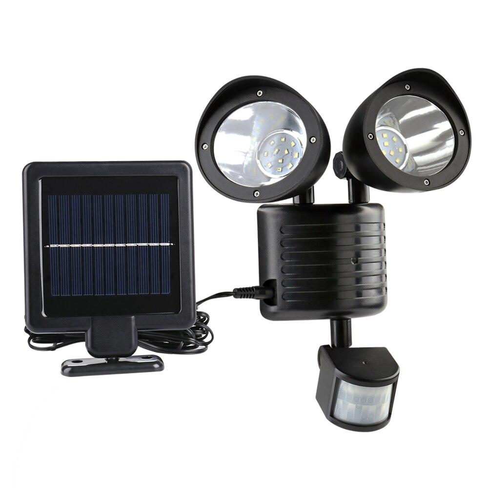 Newstyle 22leds LED Solar Light Twin Head PIR Motion Sensor Lighting Outdoor Solar lamp Waterproof Pathway Emergency lawn lamp