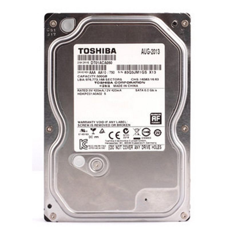 Toshiba 500G HDD HD Hard Drive 3.5 Internal Hard Drive DT01ACA050 SATA 3.0 7200RPM 32MB Cache HDD for Desktop PC Free ShippingToshiba 500G HDD HD Hard Drive 3.5 Internal Hard Drive DT01ACA050 SATA 3.0 7200RPM 32MB Cache HDD for Desktop PC Free Shipping