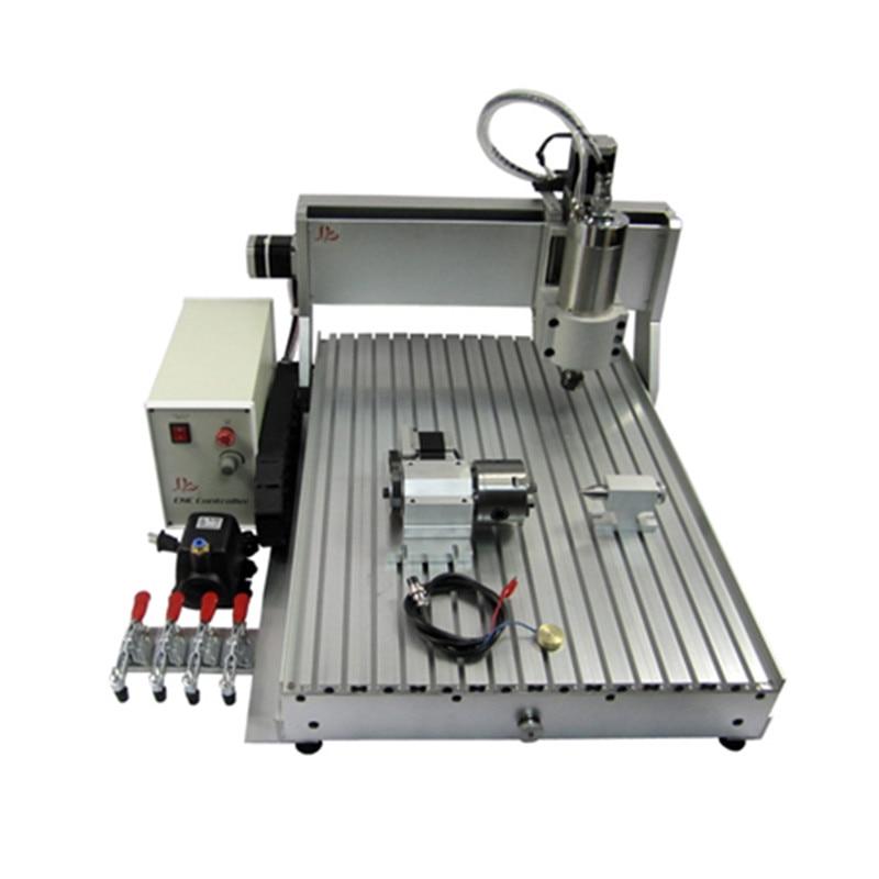 Router di CNC 6090 Macchina Per Incisione in metallo 4 assi Porta USB 2200 w di Raffreddamento Ad Acqua Intagliare con free cutter