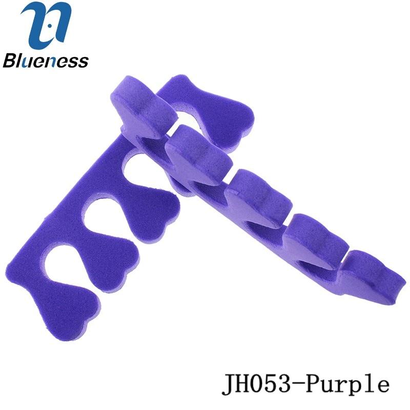 10Pcs Package Soft Sponge Foam Toe Separator Purple Pedicure Tool font b Feet b font font