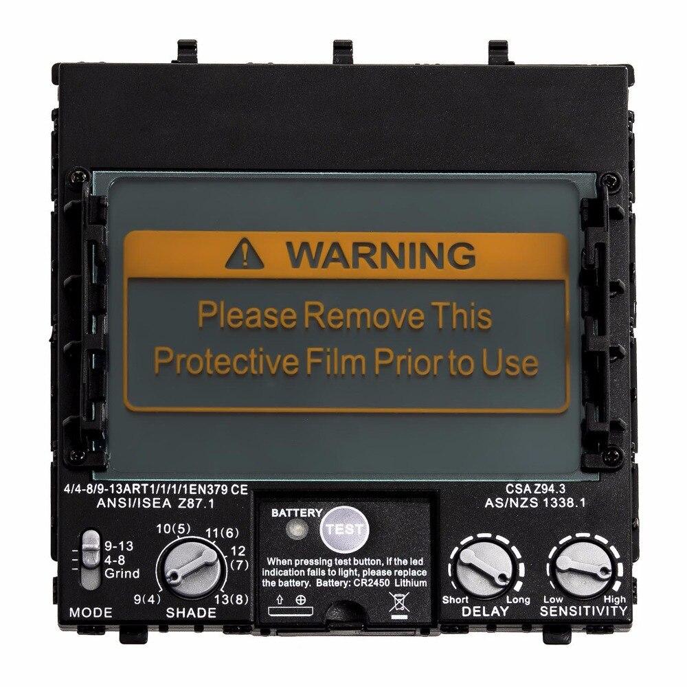 Tools : Welding Filter View Size 100x65mm  3 94x2 56in  Solar 4 Sensors Auto Darkening 1111 Full Range Shade 4 3 -13 for Welding Helmets