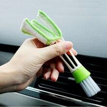 Многофункциональная 6,5 дюймовая Двухсторонняя щетка для ухода за автомобилем, автомобильная мойка из микрофибры, щетка для чистки автомобиля, инструменты для очистки компьютера