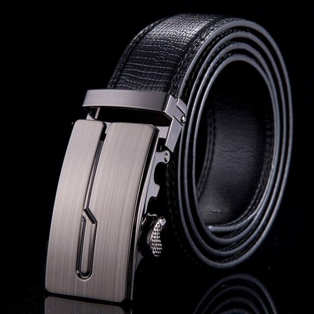 2015 Genuine leather belts for men brand strap metal  automatic buckle men belt fashion ceintures homme WN020