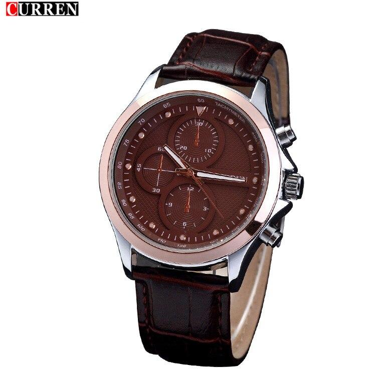 Модные Бизнес прилив восстановление древних способов большой циферблат кварцевые часы ремень Для мужчин отдыха на открытом воздухе Спорти... ...