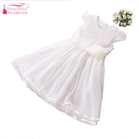 Free Size White Flower Girls Dresses 2018 Cheap Knee Length Pageant Gowns Suit for Height From 120 cm to 150 cm ZF061