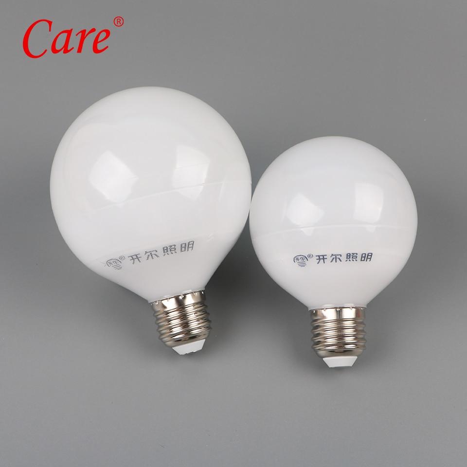 все цены на Care Big LED Bulbs Bubble Ball Bulb G80/G95/G120 10W/12W/15W Three-color light Lamp E27 Lampada Ampoule Lighting LED Lighting онлайн