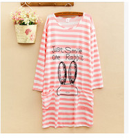 2016 New Tops Ladies Nightgown Summer Spring And Autumn Underwear Women Big Yard Loose Sleepwear Fashion