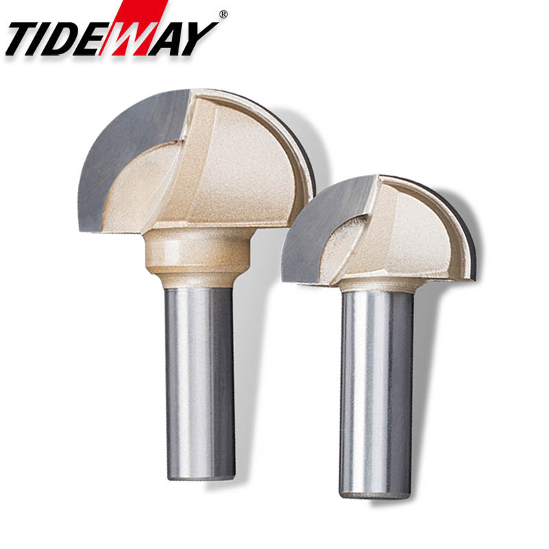 Tideway Woodworking Round Cove Bit Tungsten Carbide Professional Grade Router Bits For Wood 1/2 1/4 Inch Shank Milling Cutter(China)