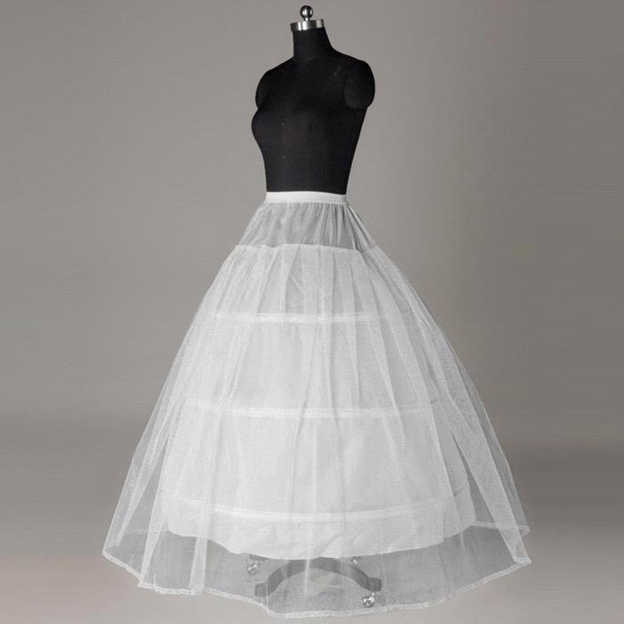 In Stock 3 Hoop 1 Tulle Layer Ball Gown Bone Full Crinoline Petticoats For Wedding Dress Wedding Skirt Accessories Slip
