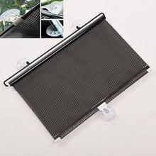 Черный 45x125 см Авто Окно рулонная шторка навеса лобового стекла солнцезащитный козырек