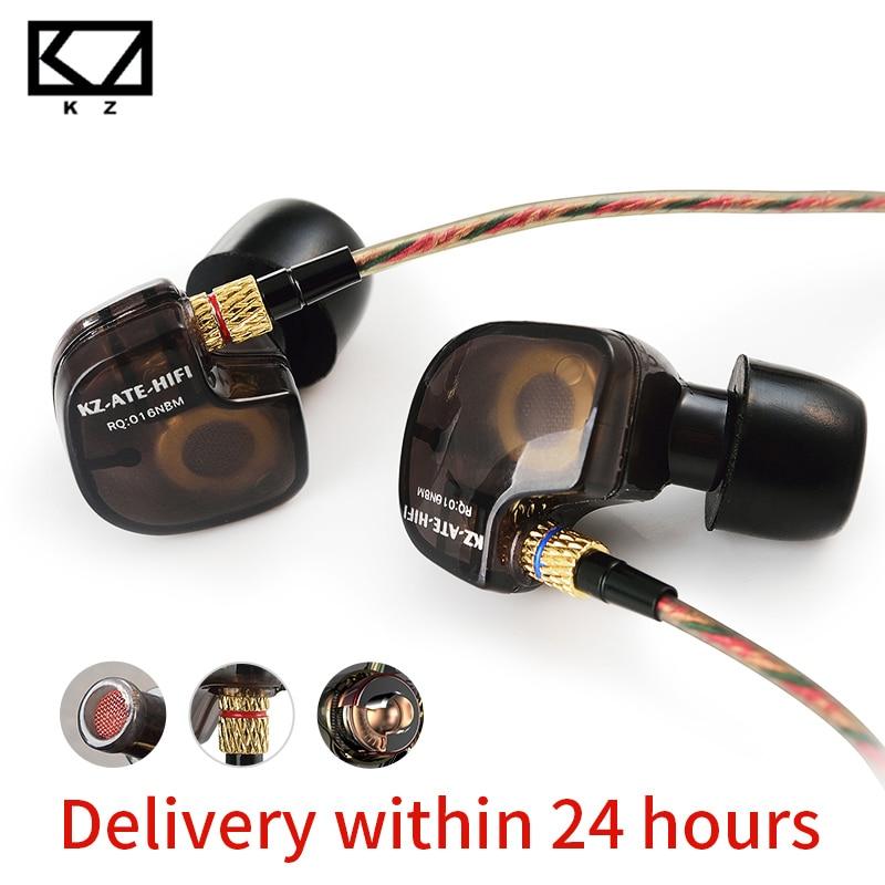 KZ ATE Copper Driver Ear Hook HiFi In Ear Earphone Sport Headphones