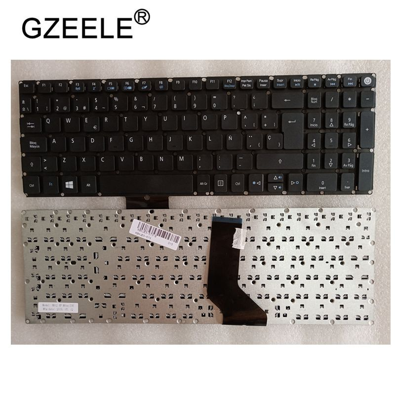 GZEELE FOR Acer Aspire E15 E5-573G E5-573T E5-574G E5-574 E5-575G E5-573TG SP Keyboard Spanish Teclado No Frame BLACK