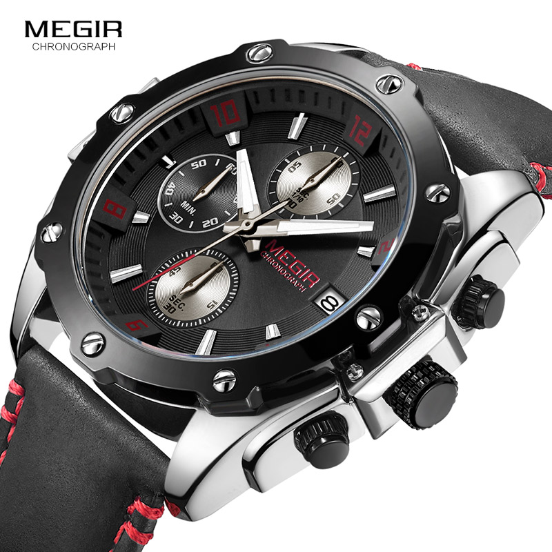 Top Luxury Brand Quartz Watches Men Fashion Casual Business Wrist Watch Analog Clock Men Leather Strap Relogio Chronograph mike 8825 men s business casual analog quartz wrist watch silvery white black