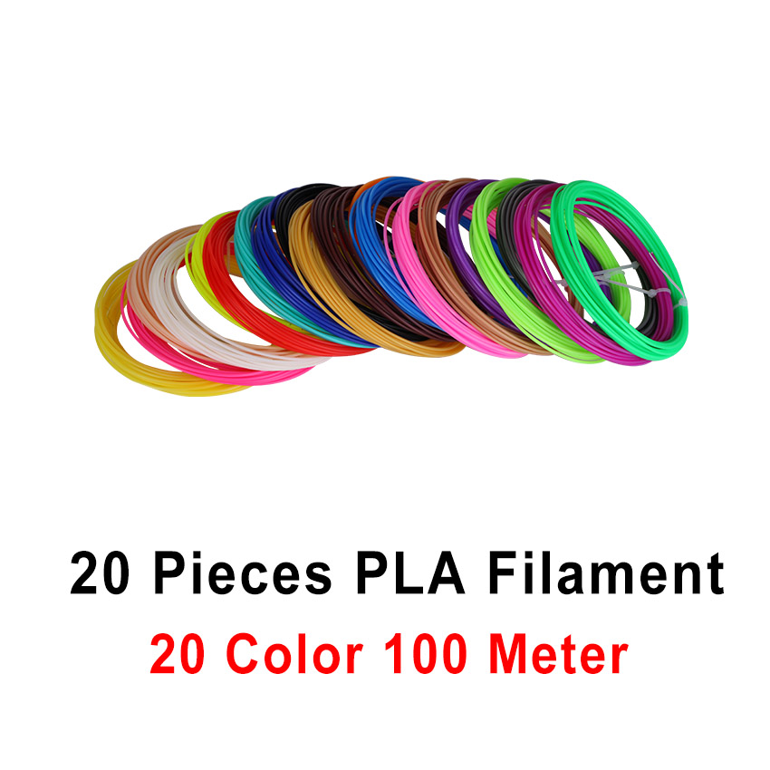 20 color or 10 color/set 3D Pen Filament ABS/PLA 1.75mm Plastic Rubber Printing Material For 3D Printer Filament 3d printer filament abs pla 1 75mm with 30 colors for 3d printing pen 3d printer 3d model creation plastic material supplies
