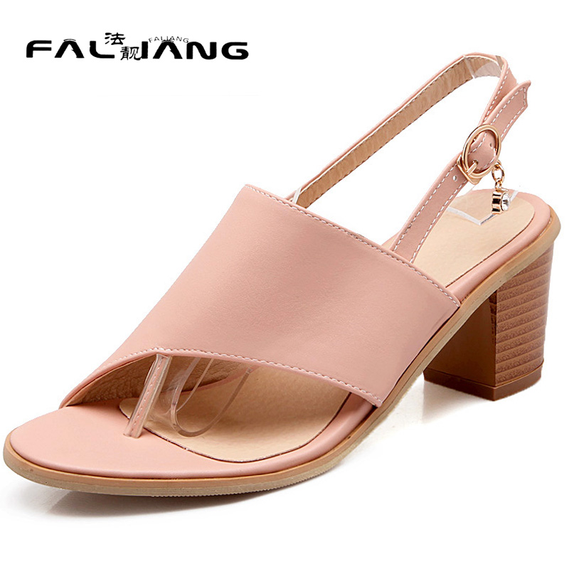 New arrival Big Size 11 12 women shoes Leisure woman Peep Toe ladies Toe womens Summer Rough with high heel sandals wholesale 2017 new spring autumn big size 11 12 dress sweet wedges women shoes pointed toe woman ladies womens