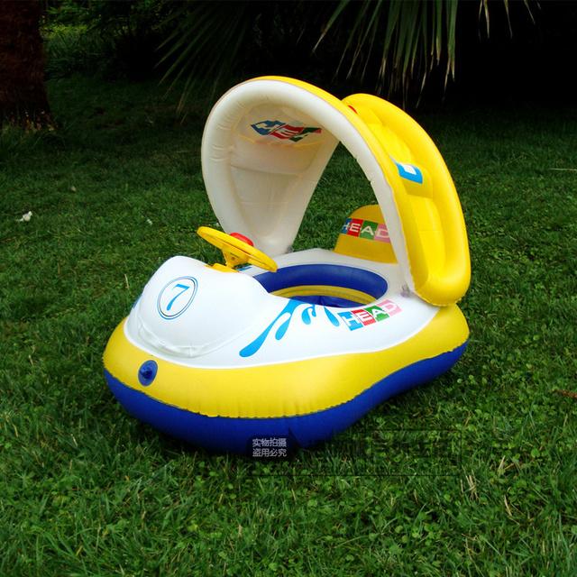 Lancha Viewseaborne espessamento brinquedos infláveis criança sol-shading assento do bebê anel barco anel da nadada do bebê mesa inflável