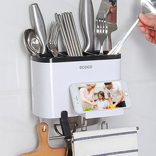 Wall Kitchen Rack Storage Towel Knives Spoons Hanging Sundries Accessories Organizer