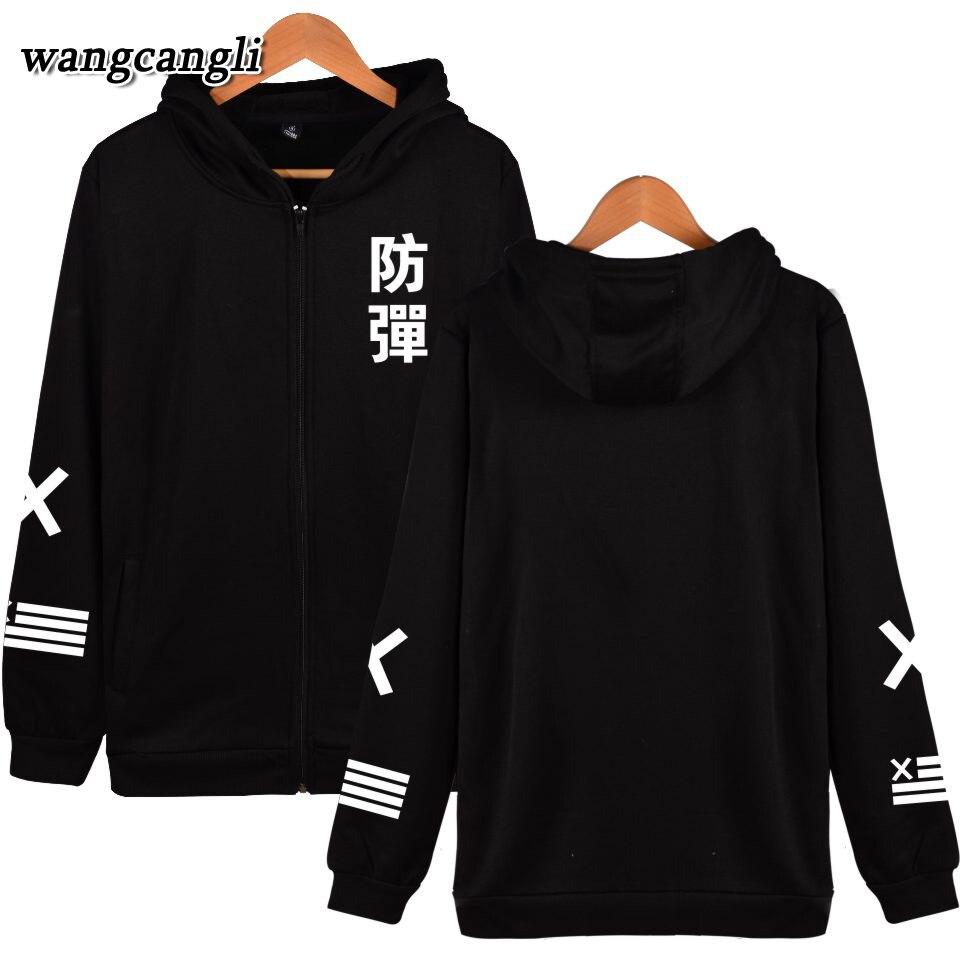 940259f1a Bangtan Meninos Capuz Zipper Mulheres Inverno Coreano Homens Hip Hop  Camisola Hoodies Mulheres Harajuku Moda Kpop Jaqueta Casaco Plus Size