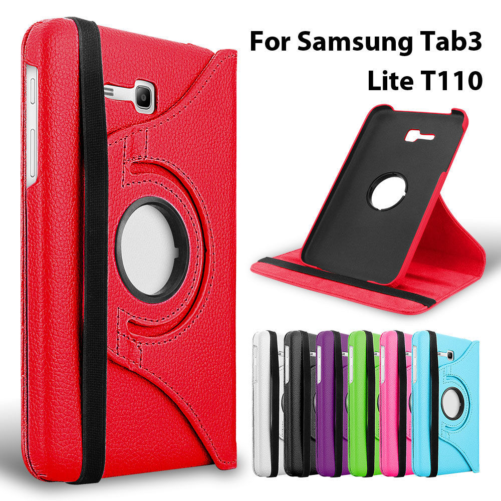 360 Rotating Flip Leather Cover For Samsung Galaxy Tab 3 Lite 7