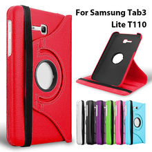 360 Rotating Flip Leather Cover For Samsung Galaxy Tab 3 Lite 7″ T110 T111 Tab E 7.0 inch T113 T116 SM-110 SM-T113 Tablet Case