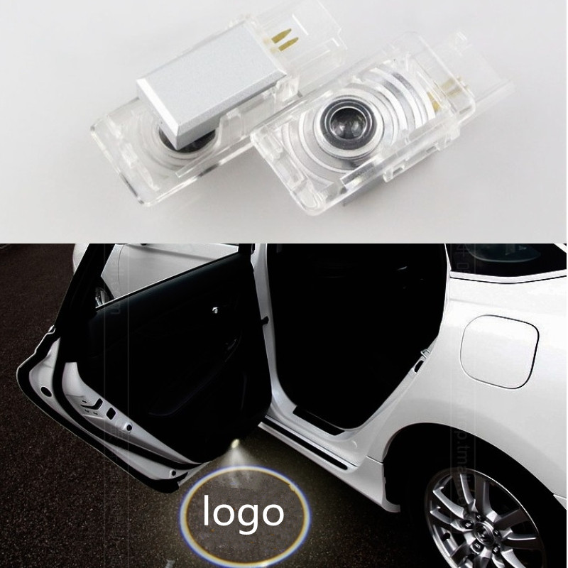 2pcs/lot Car Courtesy ghost shadow welcome Laser logo projector door light For Honda civic 2011-2015 for most cars 2pcs led car door light courtesy logo laser projector punching ghost shadow lamp lights for cadillac logo
