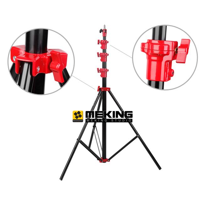 Selens 400cm 13.2ft Light Stand Heavy Duty Pneumatic support system tripod SGB-4000A Air Cushion Lightstand Max Load 10kg