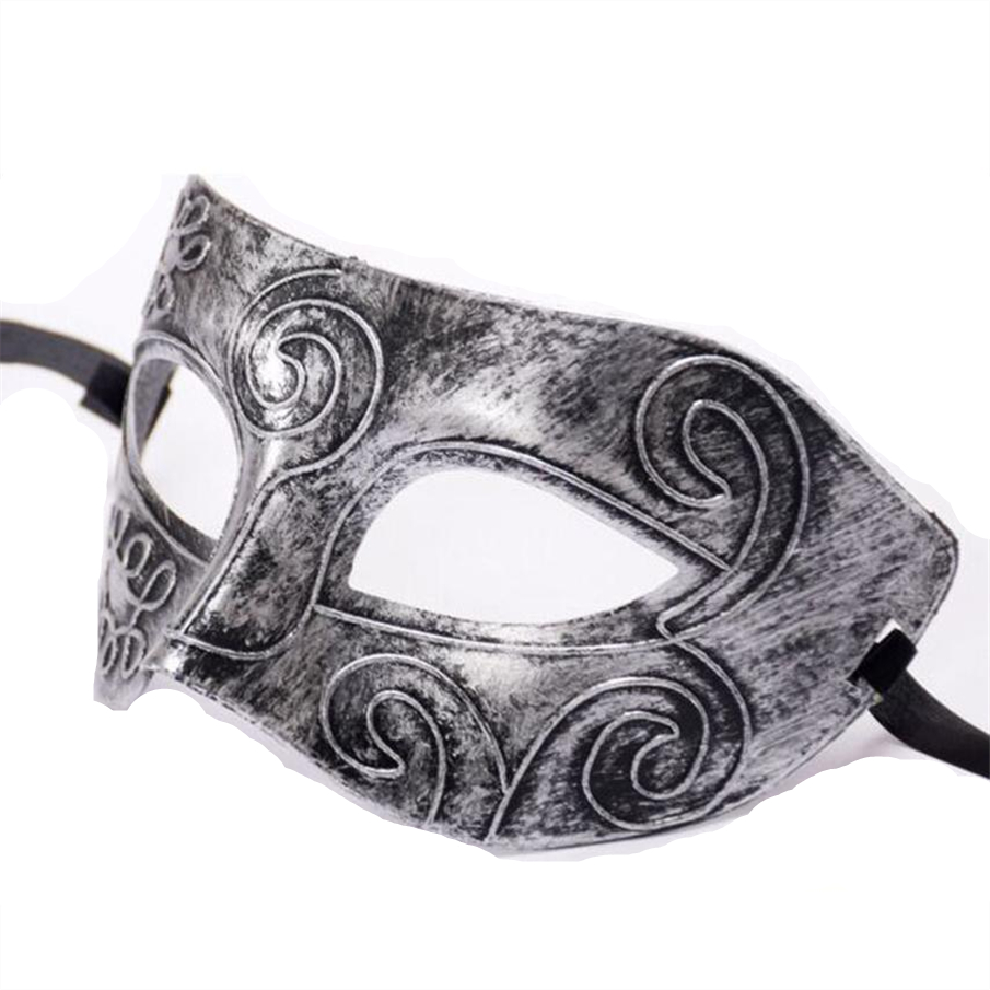 Nero Argento Maschere per Halloween Ragazze Donne Sexy Lady Viso Masquerade Cosplay Del Partito Mask Fancy Dress Costume di Carnevale