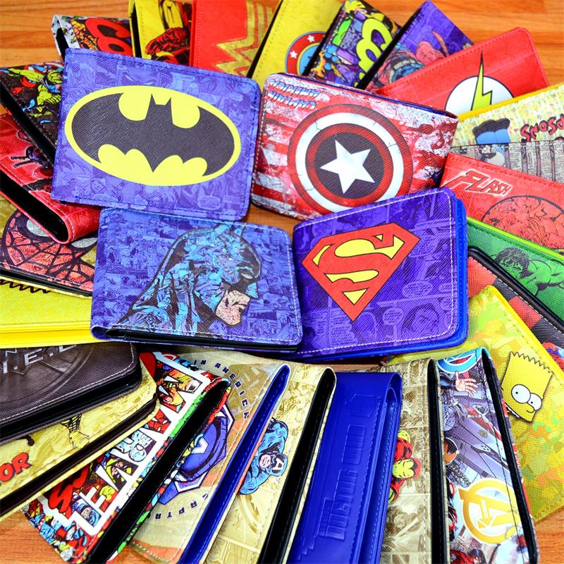 PURSE LOGO WALLET License-Card-Holder COMICS MARVEL AVENGERS CREDIT Hulk/iron-Man Captain-America/superman