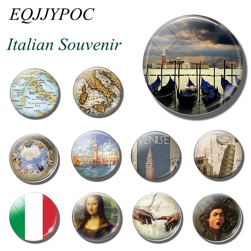 Магнит для холодильника, Италия, путешествия, Рим, Милан, Неаполь, Торино, Палермо, Итальянский Сувенир, стекло для холодильника, магниты для сообщений, наклейки