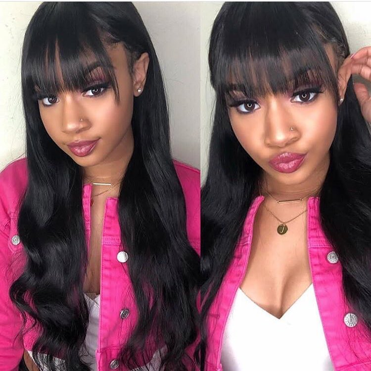 wigs with bangs body wave 1