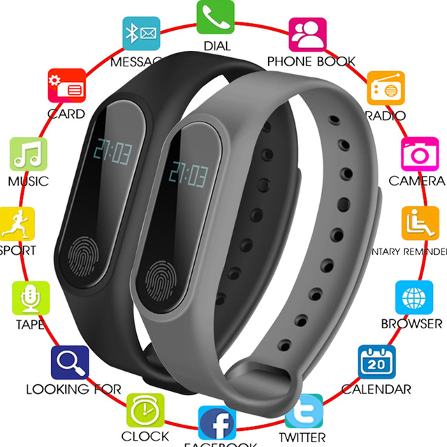 New Smart Bracelet M2 HeartRate Bracelet Waterproof Sport Fitness Band Stepcount Message Smart Loop DJA99  Bluetooth Smart Watch|Smart Wristbands| |  - title=