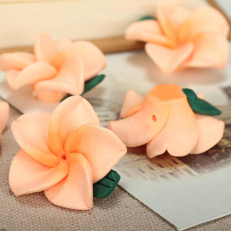 15 ชิ้น/ล็อต 25 มม.Polymer Clay Plumeriaดอกไม้ลูกปัดDiyบาหลีเครื่องประดับสร้อยข้อมือสร้อยคอเครื่องประดับหัตถกรรมทำอุปกรณ์ตกแต่ง