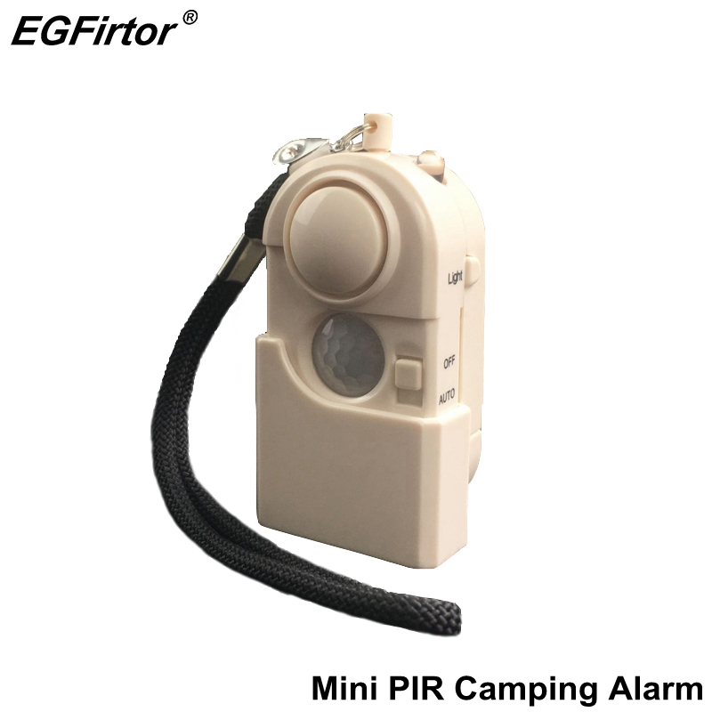 Security Alarm Camping Travel Infrared Motion Sensor Detector Portable Mini Protection Hotel Anti-theft Window Prevent Intrusion