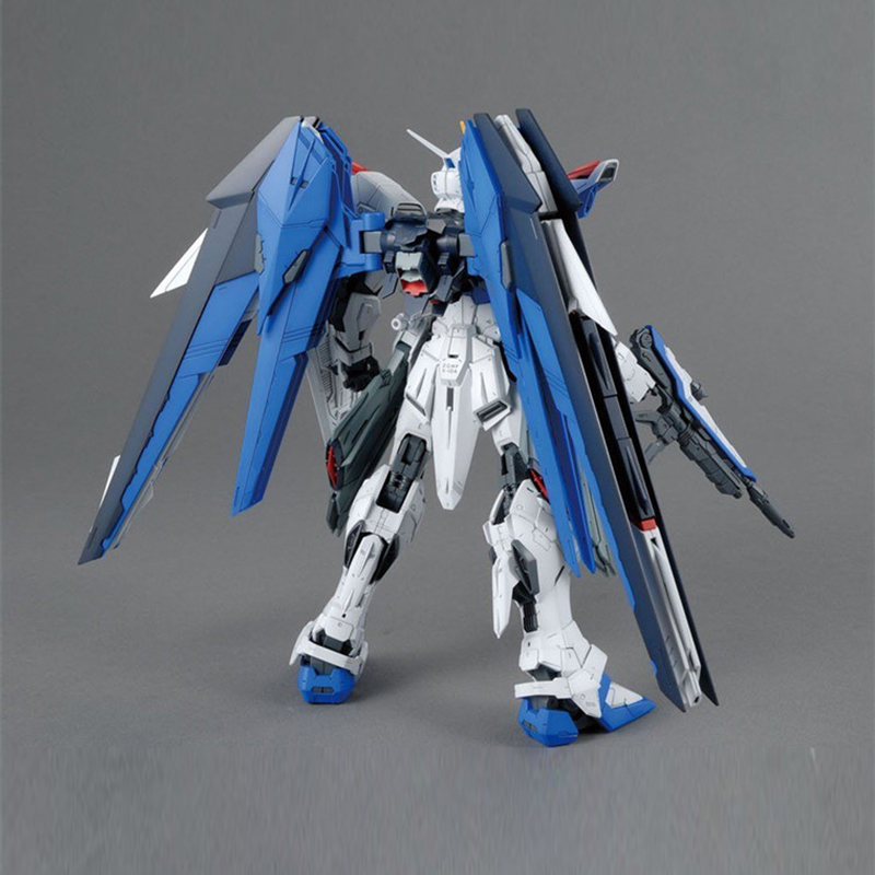 Image 3 - MG Strike Freedom Gundam 1/100 Blue Robot model hot Kids Toy Anime action figures collectibles gift Attached bracket juguetes-in Action & Toy Figures from Toys & Hobbies
