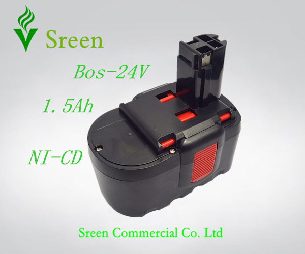 New 24V NI-CD 1500mAh Replacement Rechargeable Power Tool Battery for Bosch 2 607 335 446 2 607 335 268 BAT299 BAT240 BAT031 for bosch 14 4va 3300mah power tool battery ni cd 2607335678 2607335685 2607335686 2607335694 bat038 bat040 bat041 bat140 bat159
