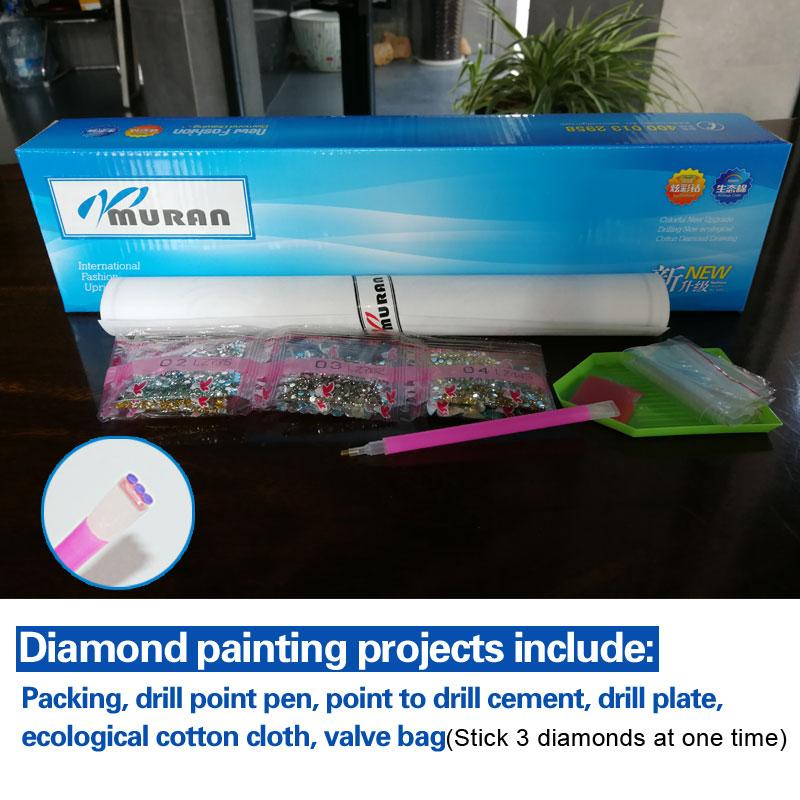 MURAN 3D DIY Алмаз кесте, 5D Алмаз - Өнер, қолөнер және тігін - фото 4