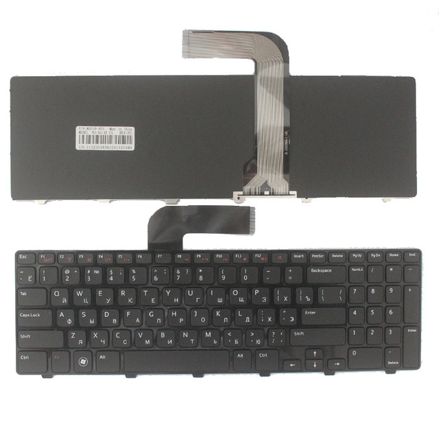 Russian Keyboard for Dell 15R N5110 M5110 N 5110 m511r m501z 0NKR2C NKR2C NSK-DY0SW 0R MP-10K73SU-442 V119625AS1 Black
